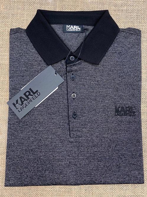 Karl Lagerfeld long sleeve black/grey polo  shirt