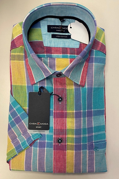 Casa Moda short sleeve shirt linen/cotton