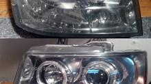 Шлифовка и полировка фар Chevrolet Tahoe, 2013 год