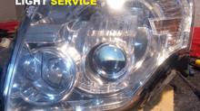 Замена линз и устранение запотевания Mitsubishi Pajero