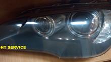 Полировка и бронирование головной оптики BMW X5