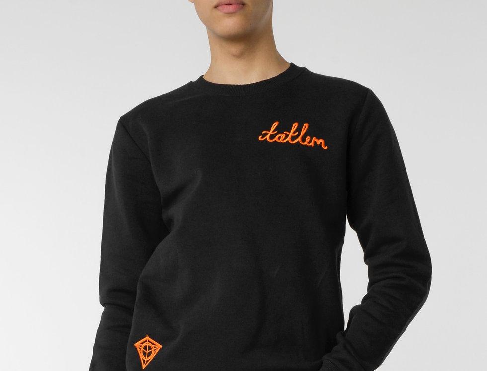 Black & Orange Tatlim Diamond Sweatshirt