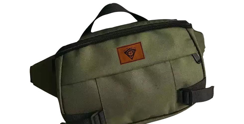 Khaki Oversized Crossbody Bag
