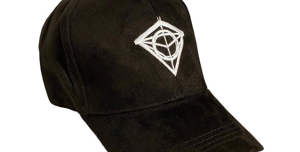 Black Suede Diamond Cap