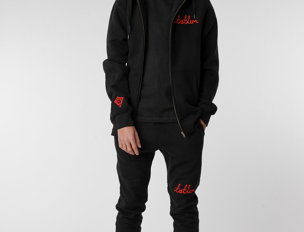 Black & Red Tatlim Sweatpants