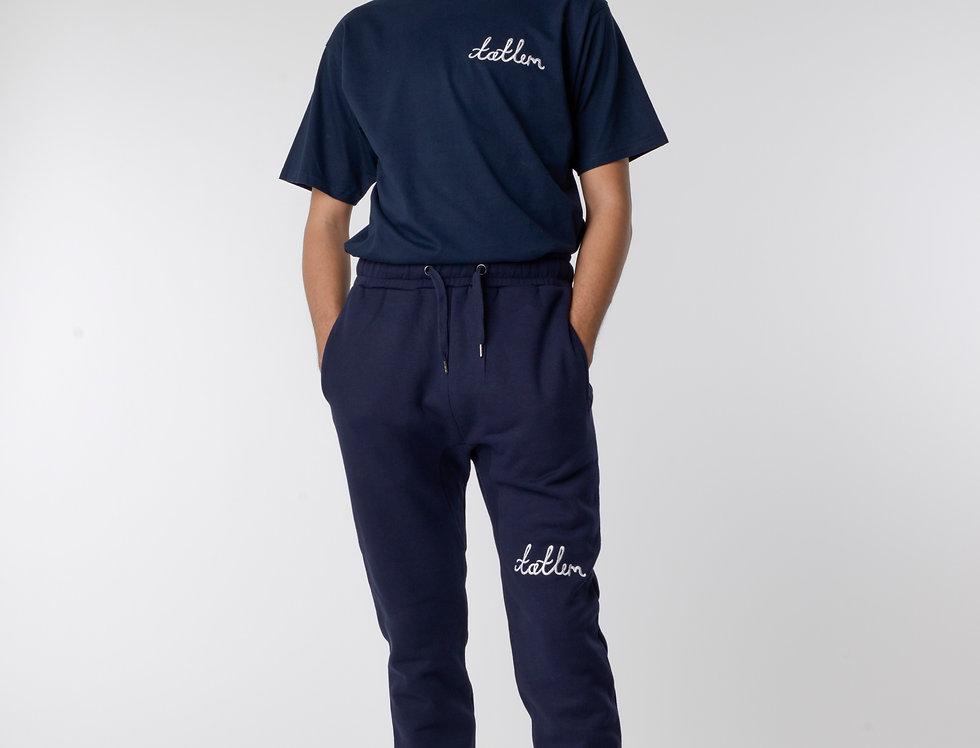 Navy & White Tatlim Sweatpants