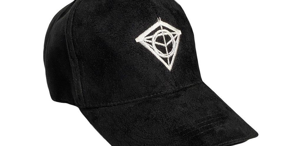 Dark Navy Suede Diamond Cap