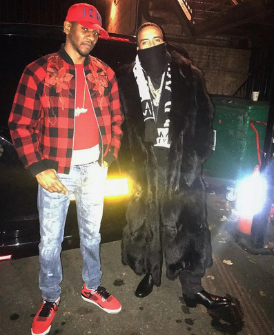 French Montana wearing Tatlim out in London with Giggs