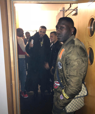 French Montana wearing Tatlim out in London
