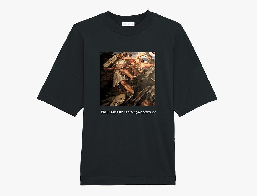 Black Oversized Commandments T Shirt