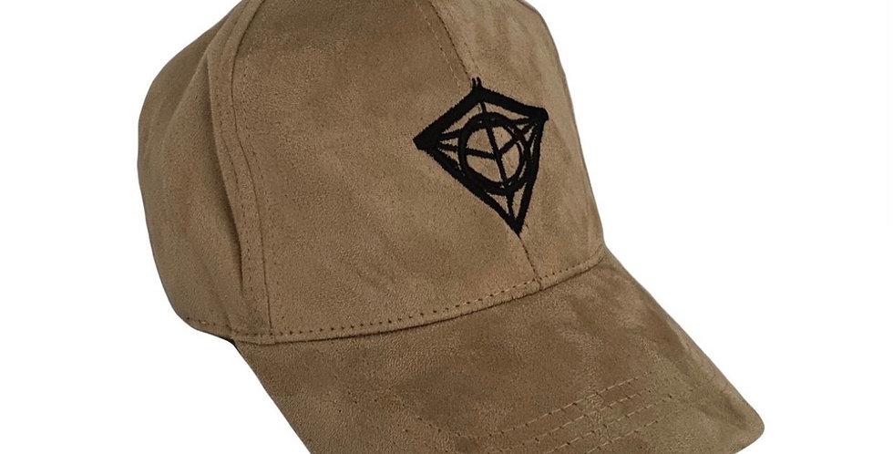 Beige Suede Diamond Cap