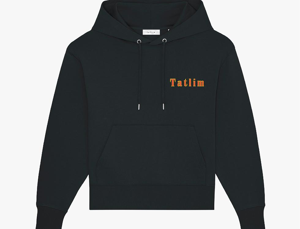 Black Oversized Tatlim Hooded Sweatshirt