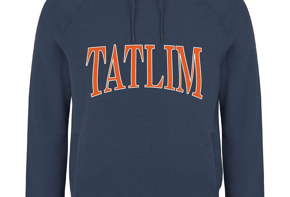 Denim Blue College Hooded Sweatshirt