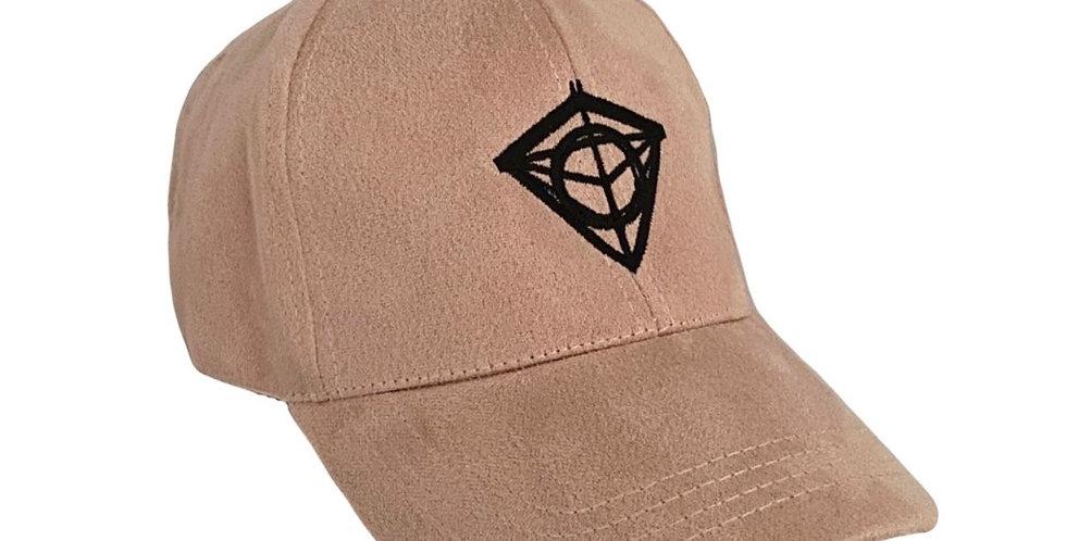 Faded Pink Suede Diamond Cap