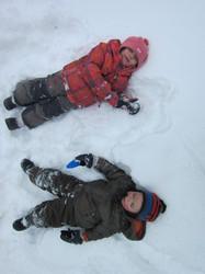 Jouer dans la neige