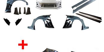 GT86/BRZ VRS style Arising Wide Full bodykit(include GT euro wing & hood bonnet)