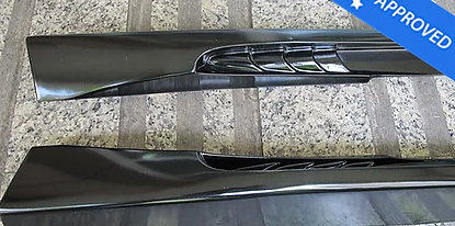 GT-R 35 Wald international sideskirts FRP
