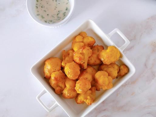 Pakora de coliflor al horno [sin gluten & vegan]