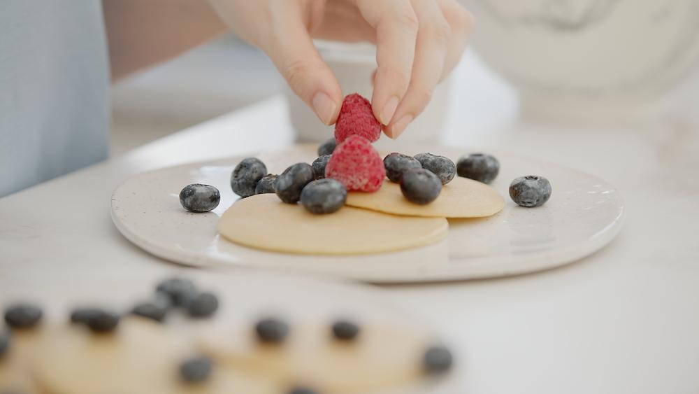Tortitas de almendras con frutas