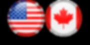 USA & Canada Button