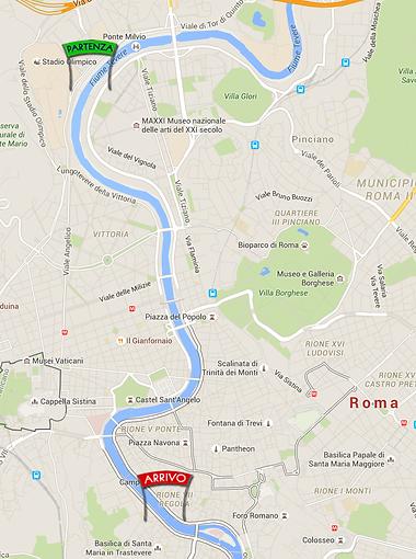 Mappa Roma Rafting