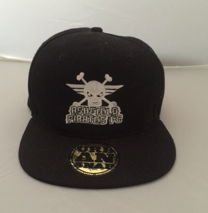 Pirates Black & White Flat Caps