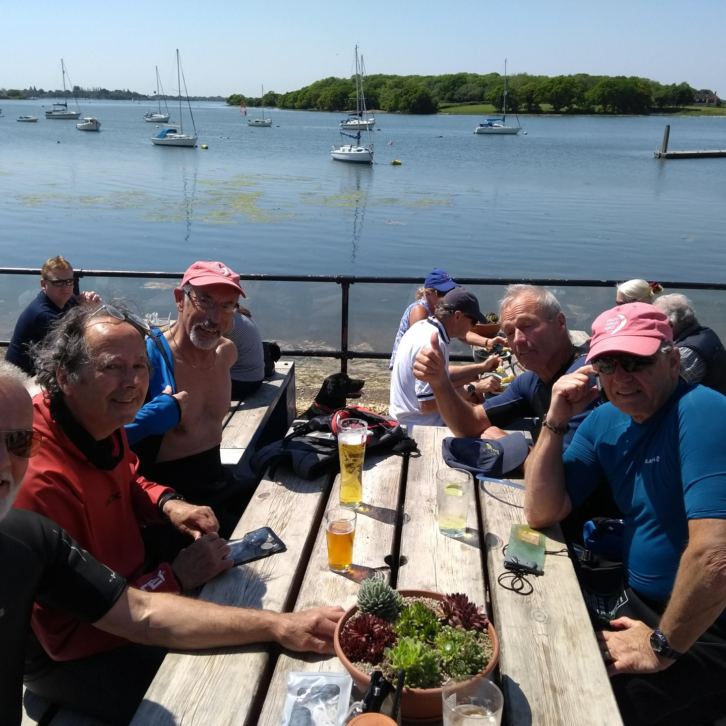 Lunch at Dell quay