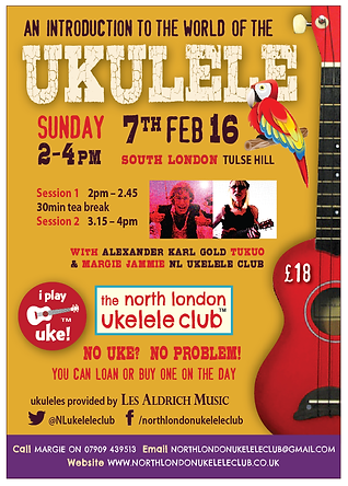 London ukulele fun, all ages, Adult Beginner 1 & 2