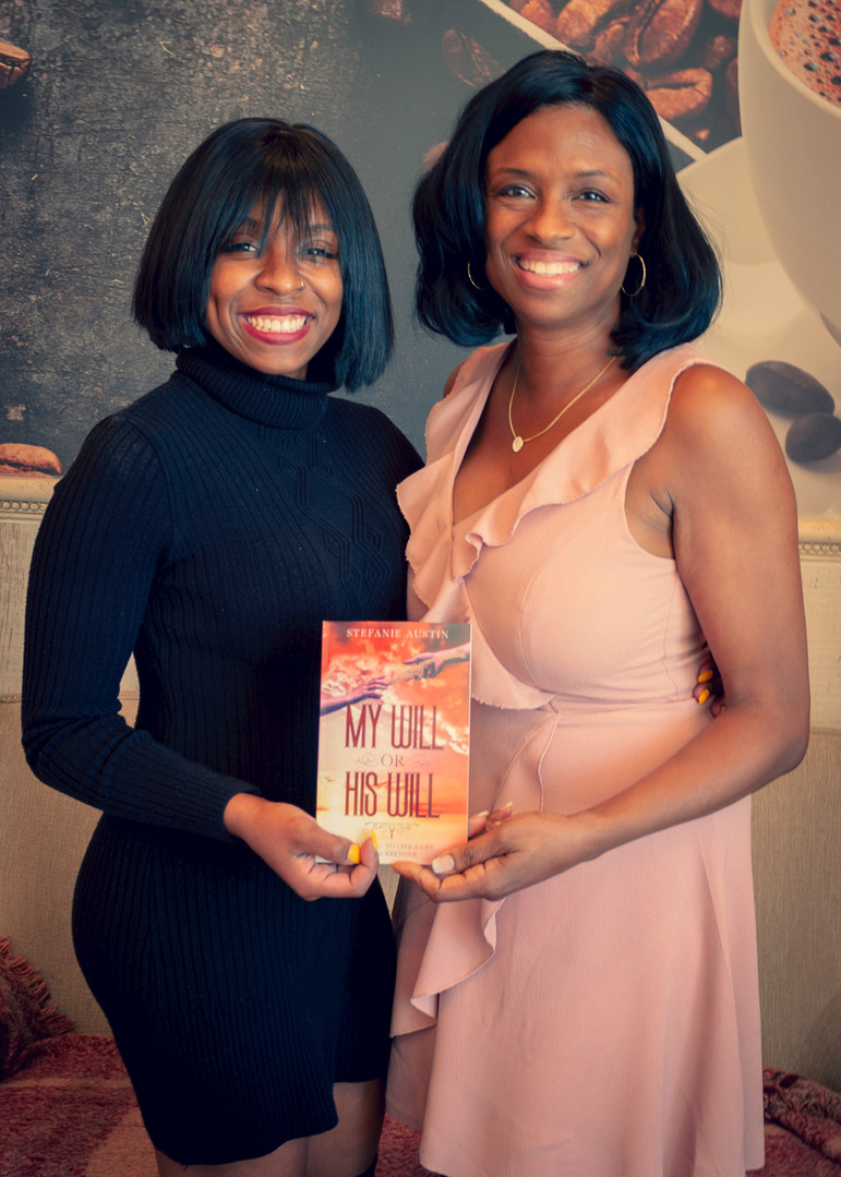 Crystal Hines with Author Stefanie Austin