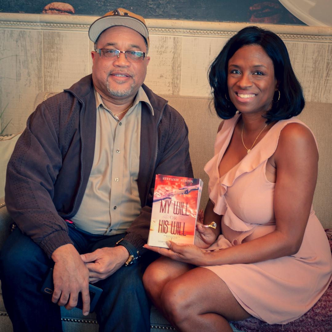 Steve w/ Author Stefanie Austin