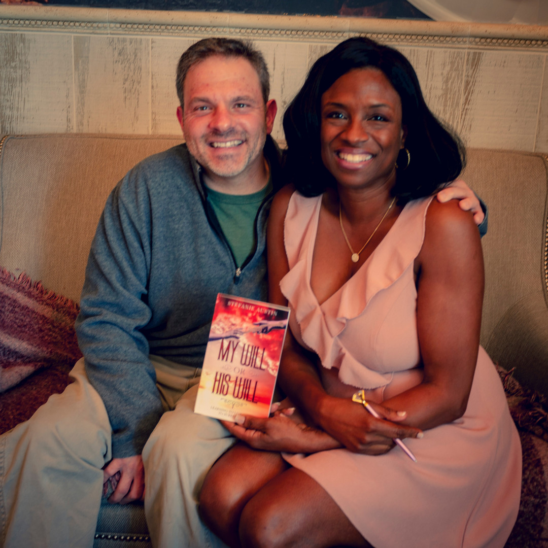 George Lehman with Author Stefanie Austin