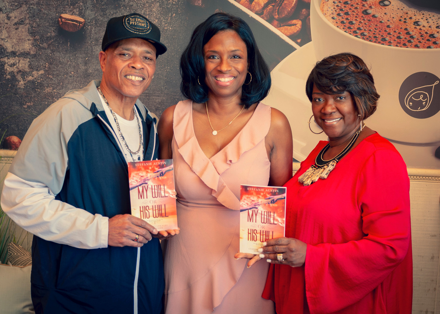 The Websters receive autographed book of Stefanie Austin