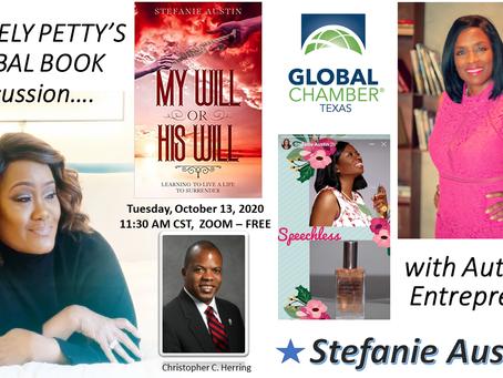 Dr. Keely Petty talks with Christian Author Stefanie Austin, Globinar for Global Chamber Texas