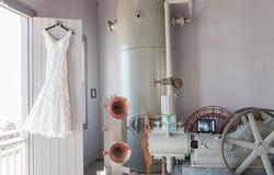 wedding dress lighthouse detail