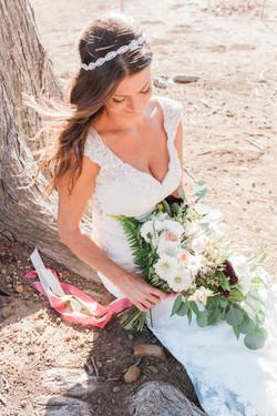 bride portrait sea side