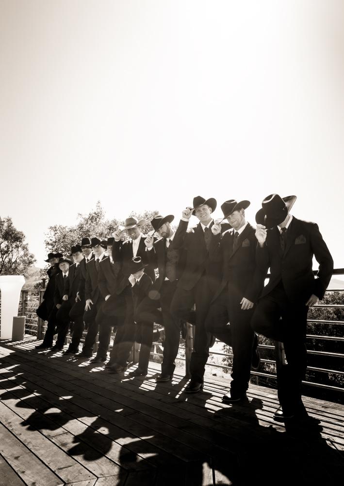 classic cowboy groomsmen portrait