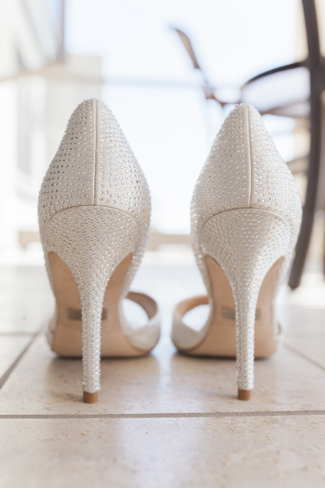 detailed bedazzled bride high heels