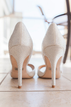detailed bedazzled bride high heels