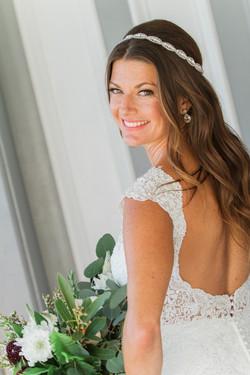 Airy bride portrait