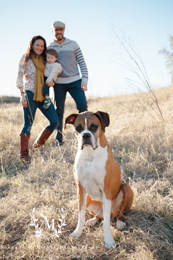 family with dog photo