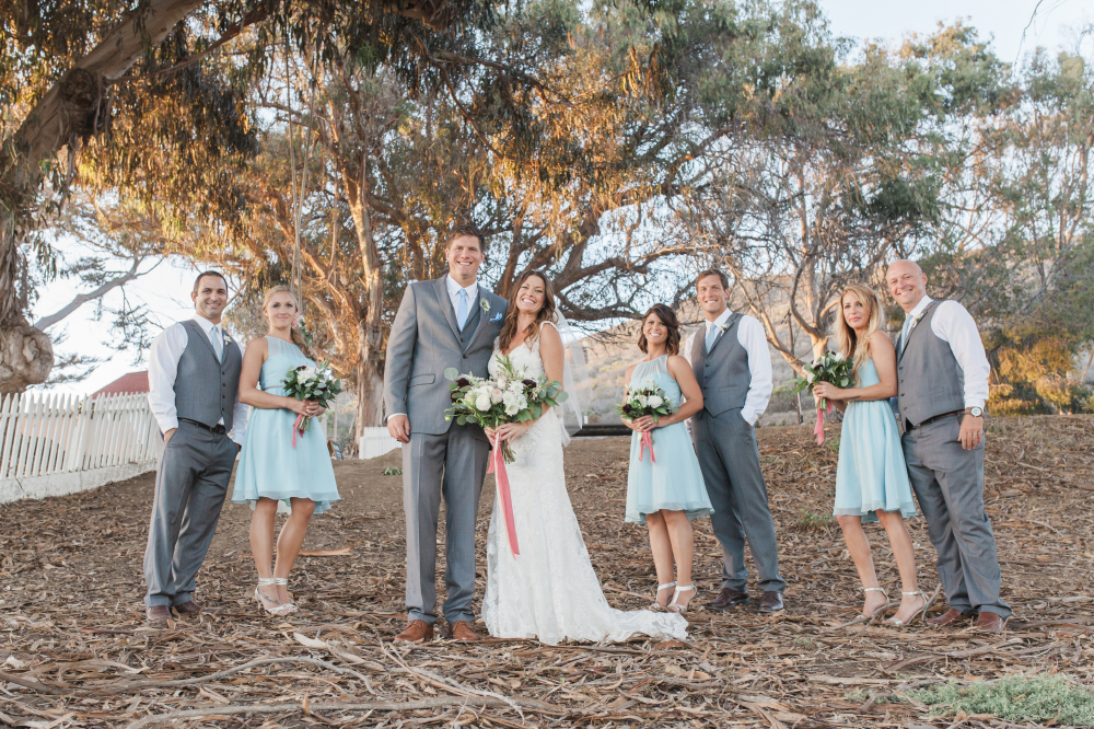 bridal party portrait eucalyptus