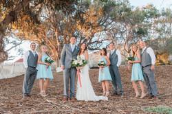 bridal party portrait eucalyptus