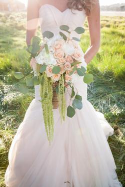 dripping bridal bouquet