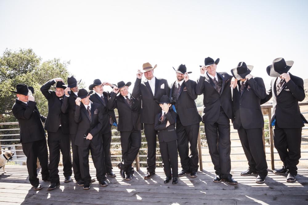 rowdy groomsmen portrait