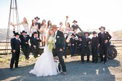 fun large ranch wedding party