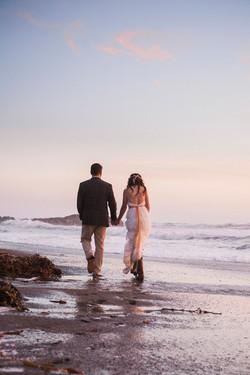 Cambria Beach Sunset Wedding