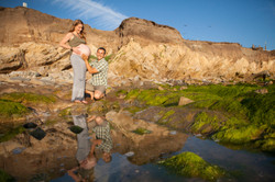 baby bump beach photography