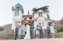 Fun bridal party portrait