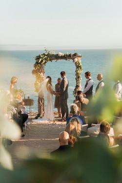 wedding ceremony beach ring exchange