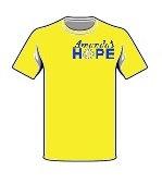 Amanda's Hope Logo T-shirt Yellow/Blue